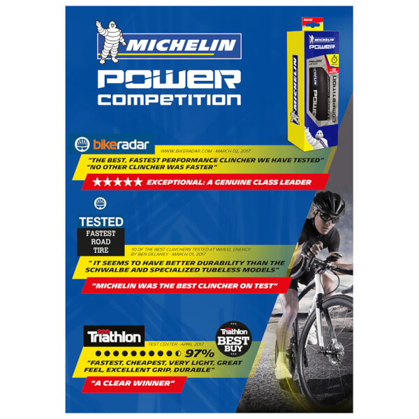 michelin power competition folding clincher road tyre probikekit uk. Black Bedroom Furniture Sets. Home Design Ideas