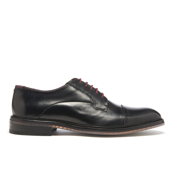 Ted Baker Men's Aokii Burnished Leather Toe Cap Derby Shoes - Black