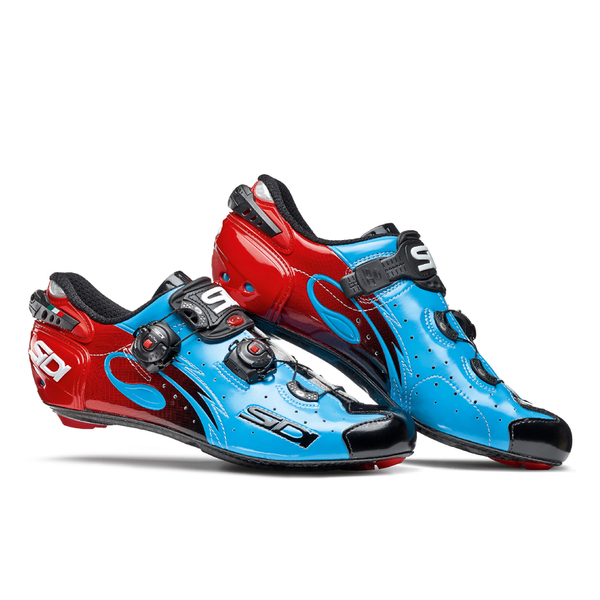 sidi wire carbon vernice cycling shoes blue sky black