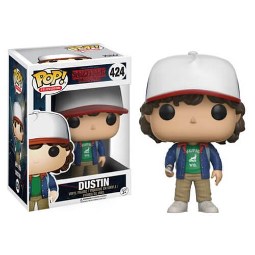 stranger things dustin with compass pop vinyl figure pop in a box us