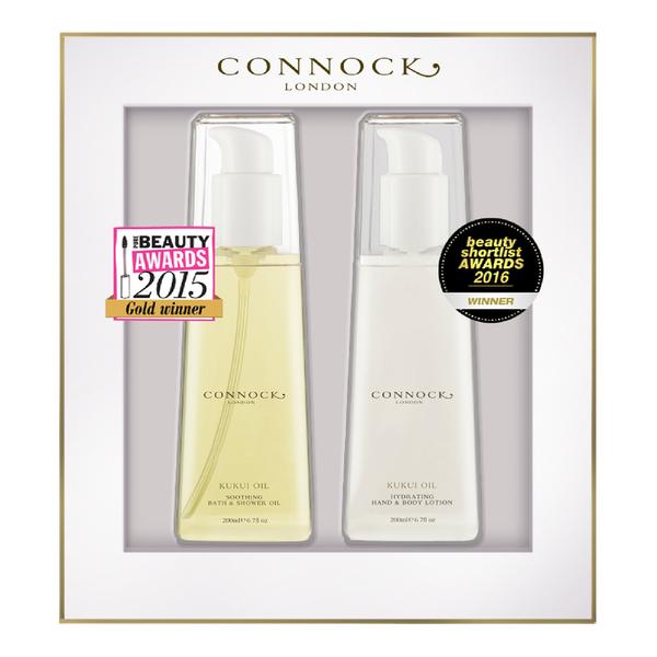 Connock London Kukui Oil Award Winners Gift Set (Worth £60)