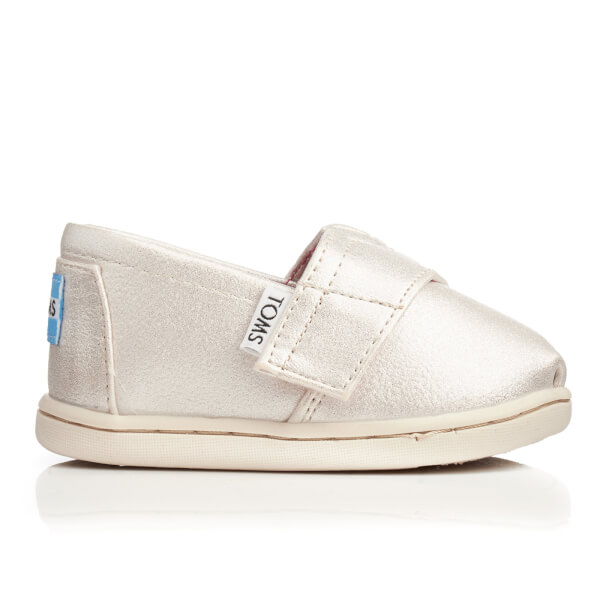 TOMS Toddlers' Seasonal Classics Slip-On Pumps - Pale Gold Shimmer