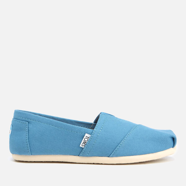 TOMS Women's Seasonal Classic Slip-On Pumps - Cornflower Blue Canvas