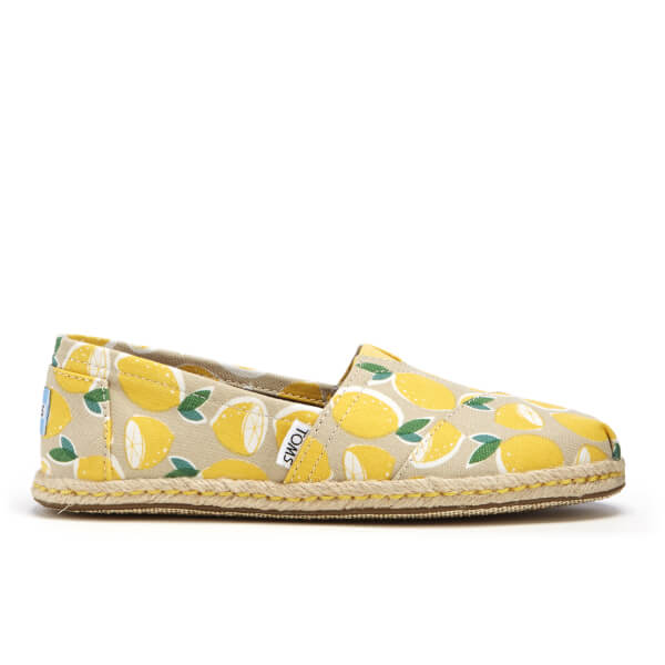 TOMS Women's Seasonal Classic Lemon's Slip-On Pumps - Yellow Lemons Rope  Sole: Image