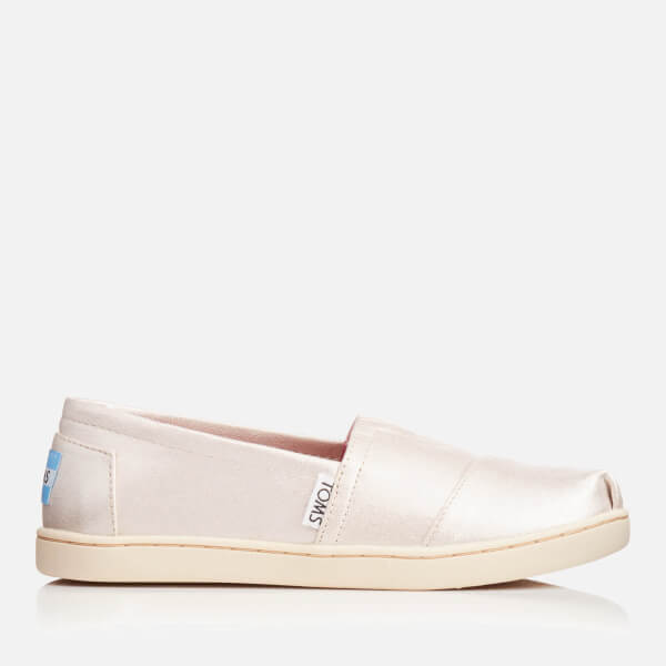 TOMS Kids' Seasonal Classics Slip-On Pumps - Pale Gold Shimmer
