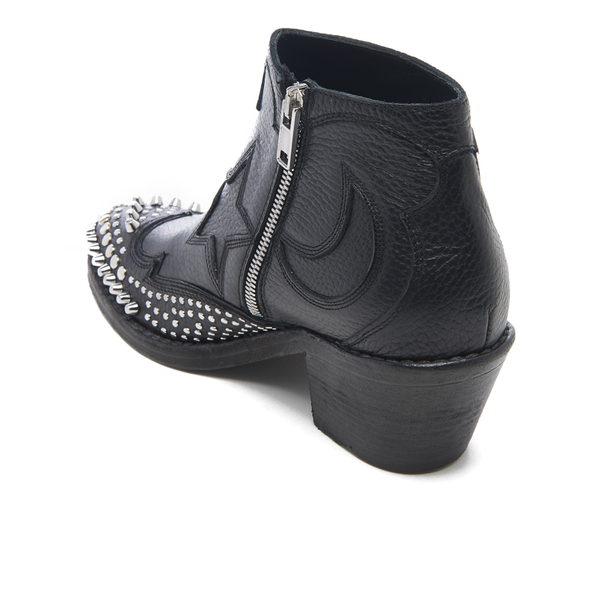 McQ Alexander McQueen Women's Solstice Zip Leather Ankle Boots - Black:  Image 4
