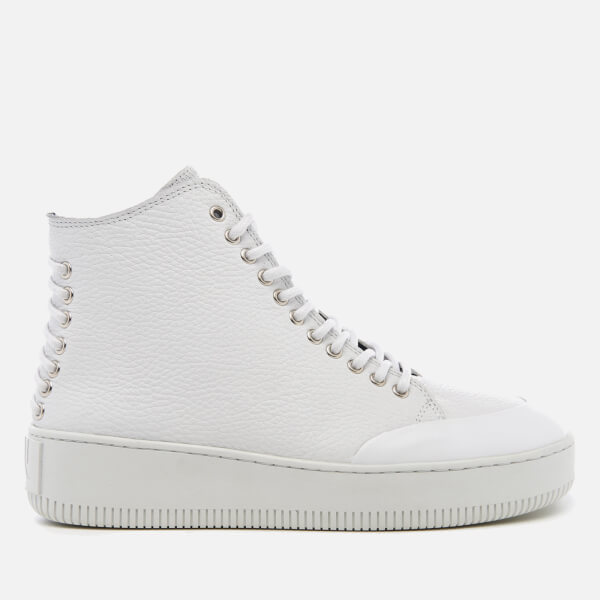 Alexander McQueen Women's Netil Laced Eyelets Hi-Top Trainers - - UK 7