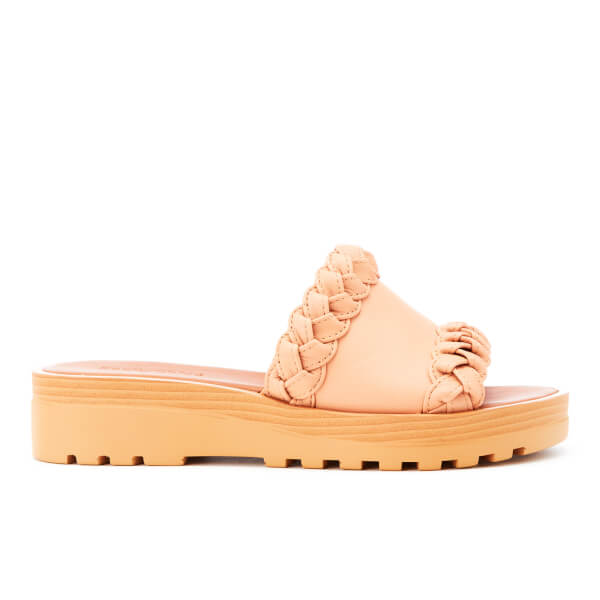 See By Chloé Women's Leather Slide Sandals - Rosellina