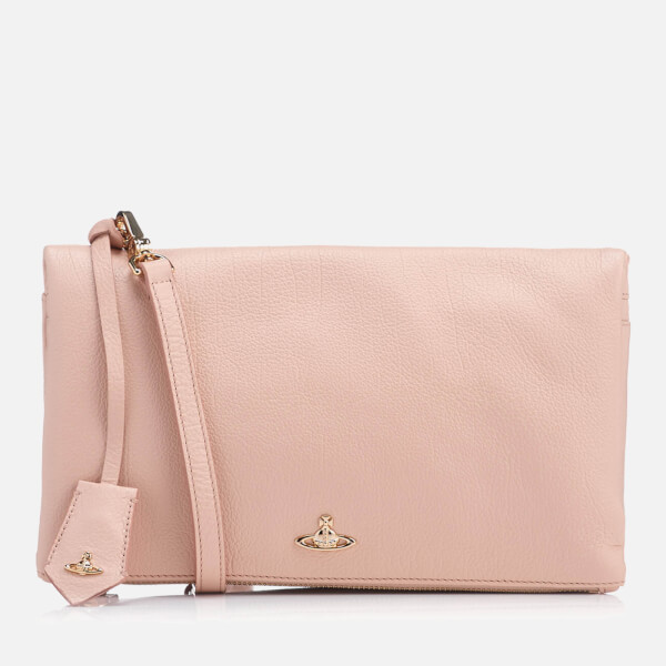 Vivienne Westwood Women's Balmoral Grain Leather Cross Body Bag - Pink