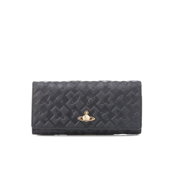 Vivienne Westwood Women's Harrow Embossed Leather Credit Card Purse - Black
