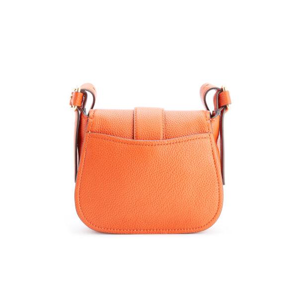 f367af2a6f9 MICHAEL MICHAEL KORS Women s Maxine Mid Saddle Bag - Orange - Free ...
