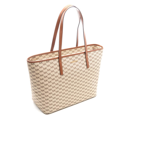 ae354f3a5acfd3 MICHAEL MICHAEL KORS Women's Emry Large Top Zip Tote Bag - Natural/Luggage:  Image