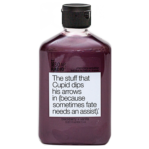 Not Soap Radio The stuff that Cupid dips his arrows in (because sometimes fate needs an assist) Bubbles for Bath/Shower 402.5ml