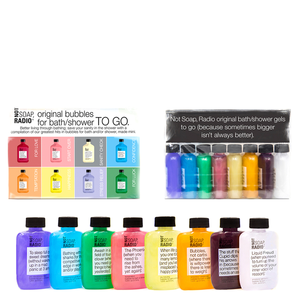 Not Soap Radio Mini All-Together Bath/Shower Gel Set 300ml