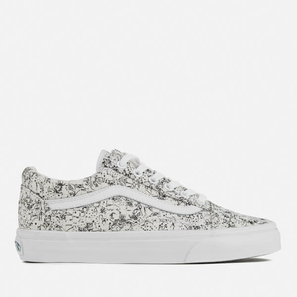 Vans Women's Old Skool Dx Woven Textile Trainers - Multi Colour/White