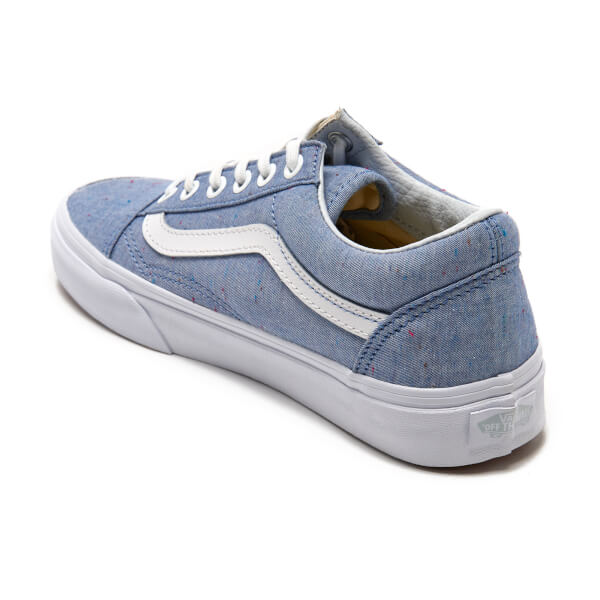 Vans Women s Old Skool Speckle Jersey Trainers - Blue True White  Image 4 3ea9c8e5d