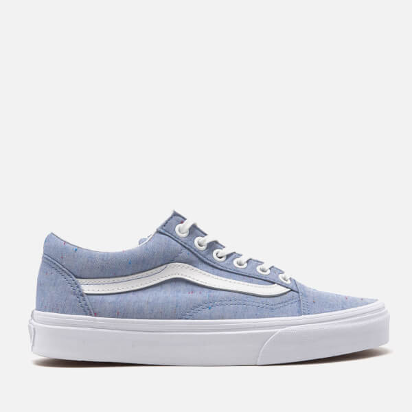 Vans Women's Old Skool Speckle Jersey Trainers - Blue/True White