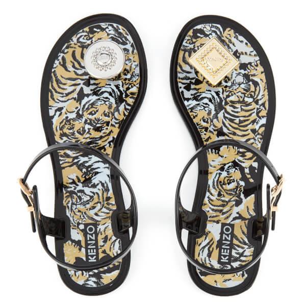KENZO Women's K-Ruz Jelly Sandals - Black