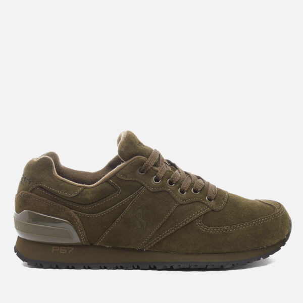 Polo Ralph Lauren Men's Slaton Pony Runner Trainers - Deep Olive