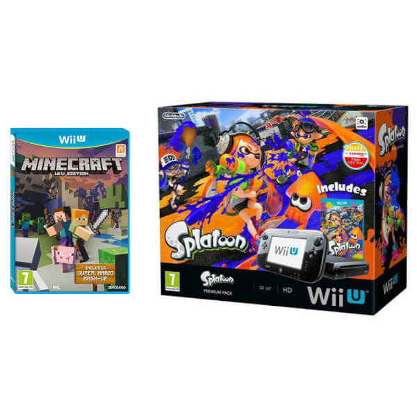 Splatoon Wii U Premium Pack + Minecraft: Wii U Edition