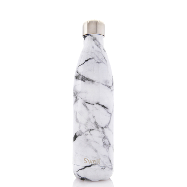 S Well The White Marble Water Bottle 750ml Free Uk