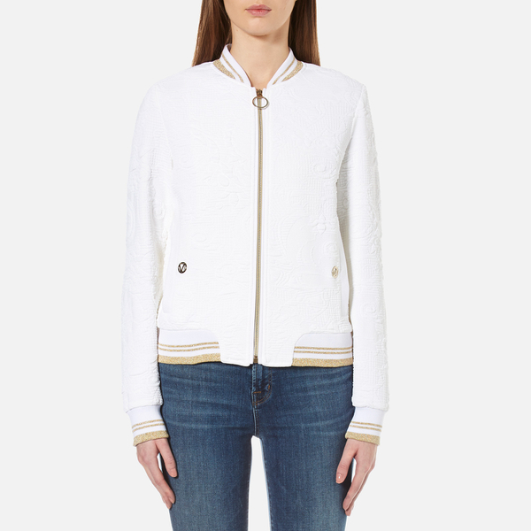 d8ce775592a Versace Jeans Women s Bomber Jacket - White Womens Clothing
