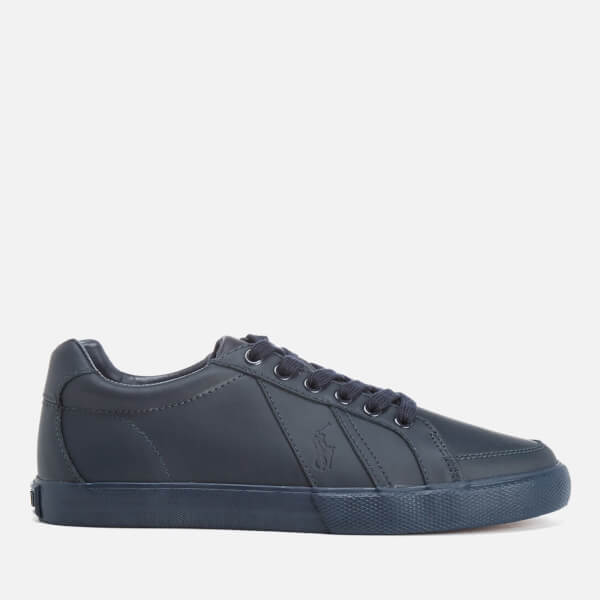 Polo Ralph Lauren Mens Hugh Leather Trainers  Newport Navy Image 1