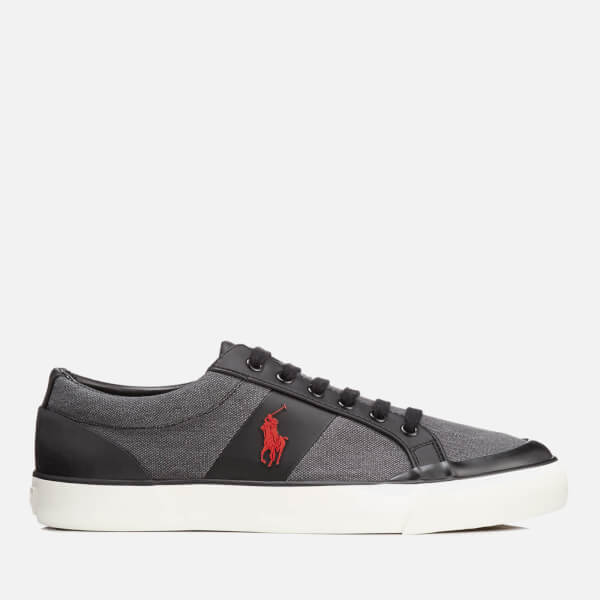 Polo Ralph Lauren Men's Ian Vintage Cotton Trainers - Black