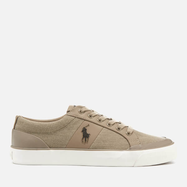 Polo Ralph Lauren Men's Ian Vintage Cotton Trainers - Khaki