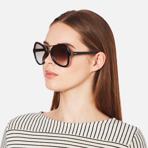 e5d6543ea0b05 Prada Women s Catwalk Oversized Sunglasses - Black  Image 2
