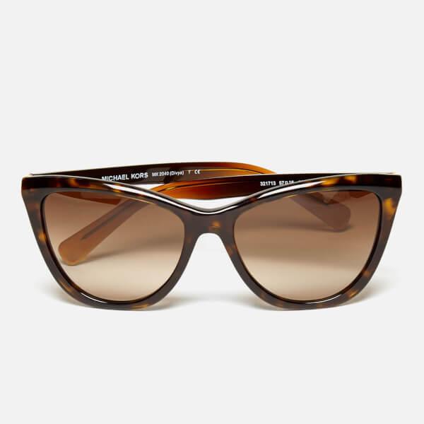e68dc5e0e60 MICHAEL MICHAEL KORS Women s Divya Sunglasses - Dark Tortoise  Image 1