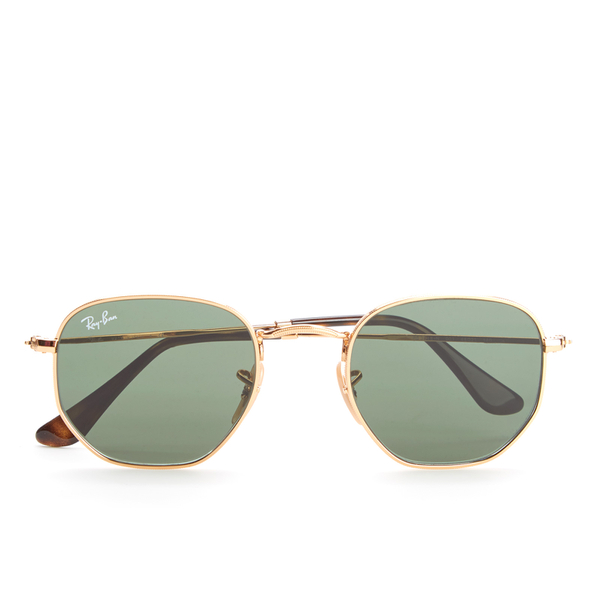 Gold Frame Ray Ban Sunglasses : Ray-Ban Hexagonal Metal Frame Sunglasses - Gold/Green