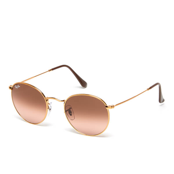 edfb612d2c Ray-Ban Round Flat Lenses Bronze Copper Frame Sunglasses - Pink/Brown  Gradient: