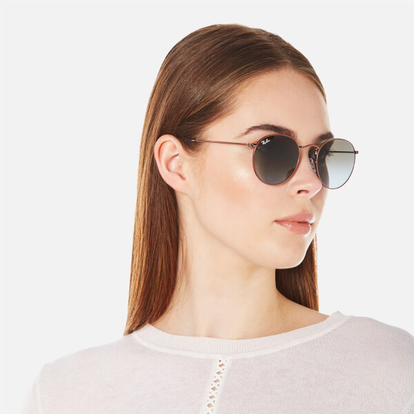 Ray Ban Return Policy >> Ray-Ban Round Flat Lenses Gold Frame Sunglasses - Gold/Pink Gradient - Free UK Delivery over £50