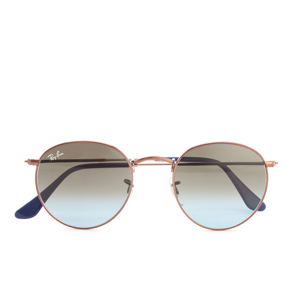 Ray-Ban Round Flat Lenses Gold Frame Sunglasses - Gold ...
