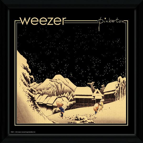 Weezer Pinkerton Framed Album Cover - 12