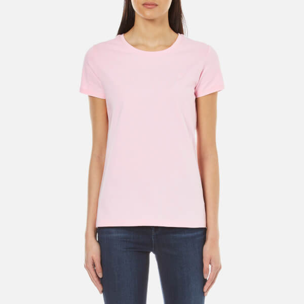 Gant women 39 s cotton elastane crew neck t shirt for Cotton and elastane t shirts