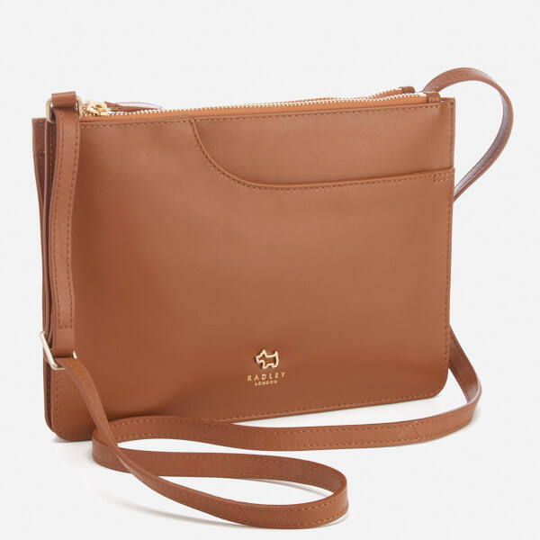 Radley Women S Pockets Medium Zip Top Cross Body Bag Tan