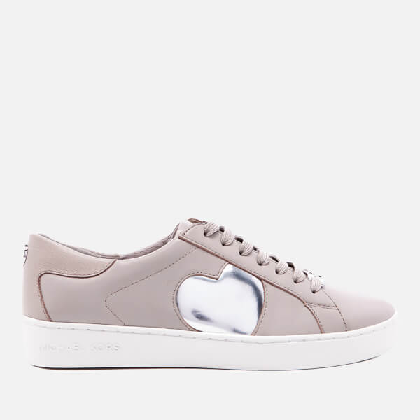 MICHAEL MICHAEL KORS Women's Keaton Heart Leather Trainers - Cement