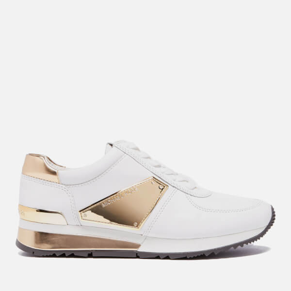 472895999c7 MICHAEL MICHAEL KORS Women s Allie Plate Wrap Leather Trainers - Optic  White  Image 1