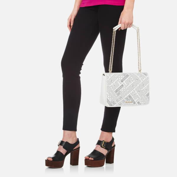446ec8589349 Love Moschino Women s Love Heart Embossed Mini Cross Body Bag - Black   Image 2