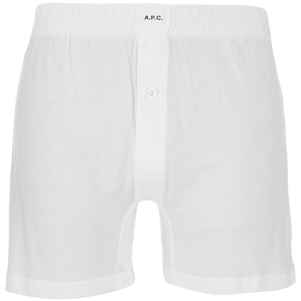 A.P.C. Men's Calecon Cabourg Boxers - Blanc