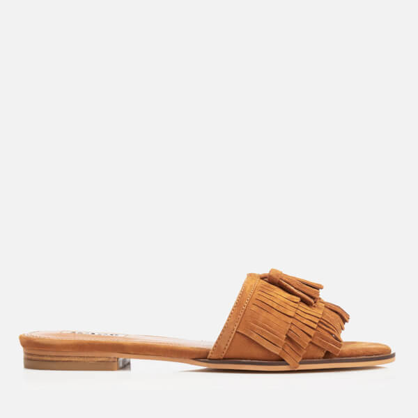 Dune Women's Lassi Suede Slide Sandals - Tan