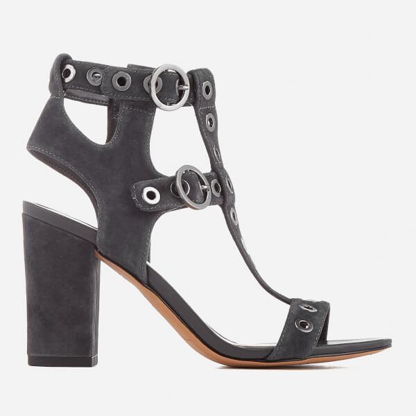 Sam Edelman Women's Eyda T-Bar Blocked Heeled Sandals - Phanton Grey