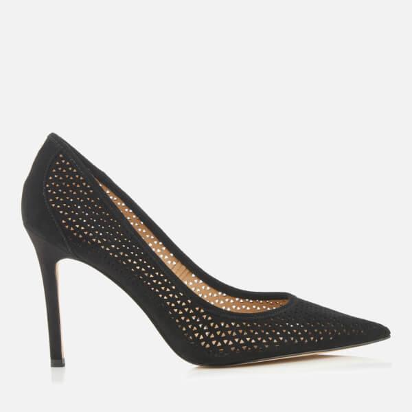 1ad28ebb7c6d56 Sam Edelman Women s Hazel 2 Perforated Suede Court Shoes - Black  Image 1