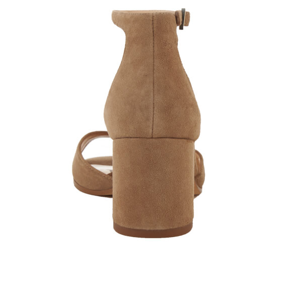 209eb0859a9 Sam Edelman Women s Susie Suede Blocked Heeled Sandals - Oatmeal  Image 3