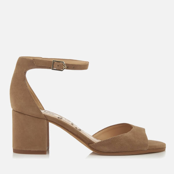 a67e2c870297 Sam Edelman Women s Susie Suede Blocked Heeled Sandals - Oatmeal  Image 1