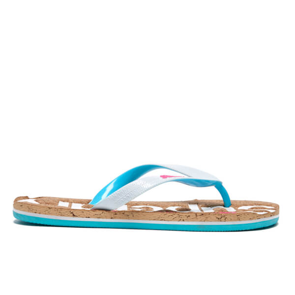 Superdry / Cork Colour Pop Flip Flops / Fluro Blue/Optic