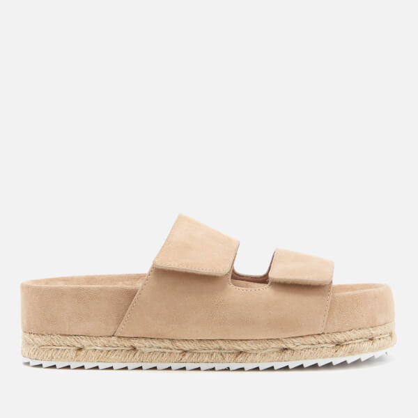 SENSO Women's Klayton Suede Double Strap Flatform Sandals - Sand - UK 4