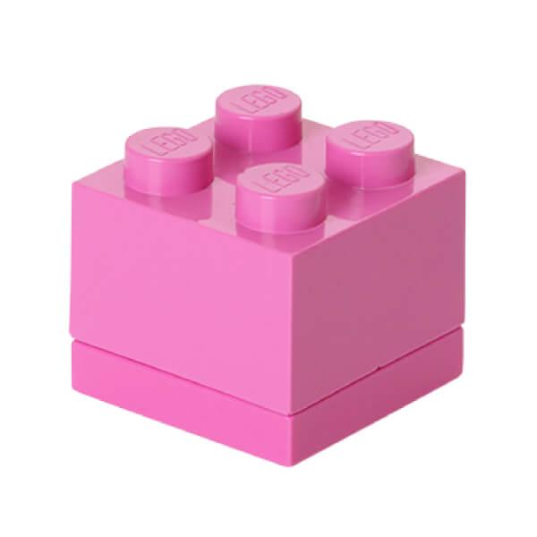 Mini Brique de rangement LEGO® Violet 4 tenons